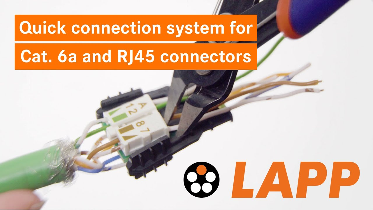 ideal rj45 wiring diagram howto quick connection system for cat 6a cables and rj45  cat 6a cables and rj45