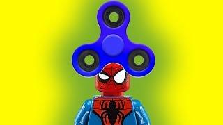 12 подвигов супергероев. Подвиг №10. Бэтмен,  Халк, Человек паук. Лего спиннер. Новые мультики 2017.