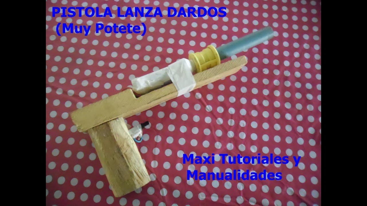 Como hacer una pistola casera lanza dardos muy potente y - Como hacer una cachimba casera facil ...