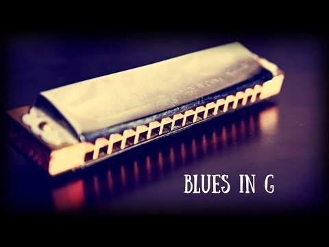 Classic Blues Shuffle   Guitar Backing Jam Track (G)