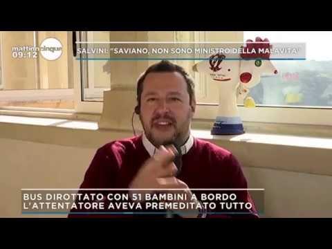 MATTEO SALVINI A MATTINO CINQUE (CANALE 5, 22.03.2019)