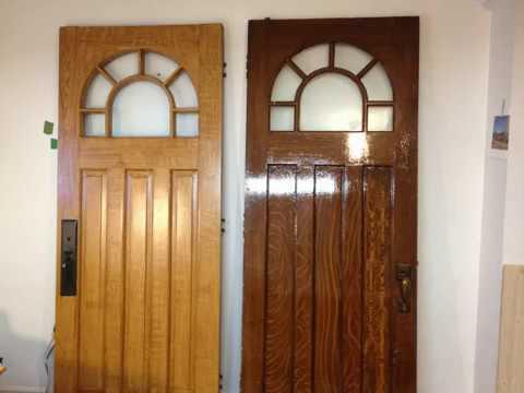 peinture imitation de bois sur porte