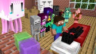 Monster School : Fight Diamond Bandits - Epic Minecraft Animation