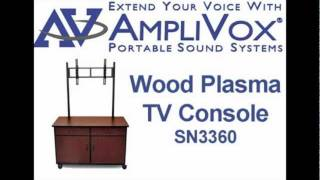 Tv Stands: Wood Plasma/lcd Tv Console With Universal Mount