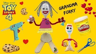 How To Make Grandma Forky Toy Story 4 Easy Tutorial! Custom Grandma Forky Toy Story 4