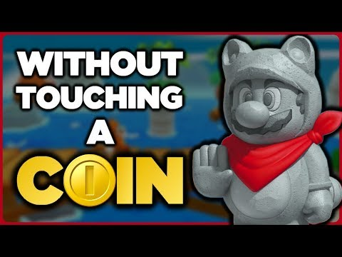 Is it possible to beat the SECRET LEVELS in Super Mario 3D Land without touching a single coin?