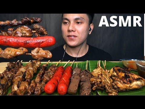 ASMR IHAW IHAW STREETFOOD BBQ MUKBANG PINOY | FILIPINO FOOD (No Talking) EATING SOUNDS | Dave ASMR