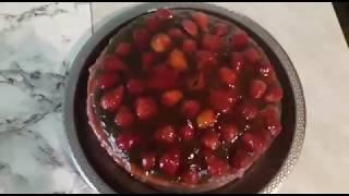 Медовый торт, с клубничным кремом и желе!