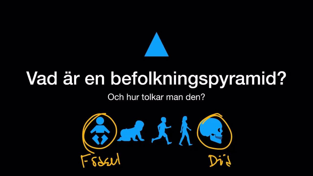 Vad är en befolkningspyramid?