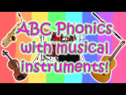 ABC English Phonics with musical instruments