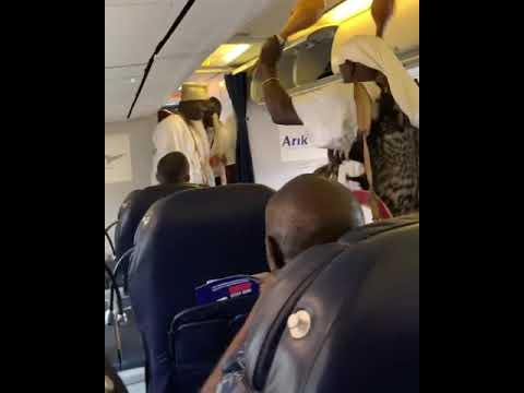 Ooni of Ife's chief priest had ritual inside Airplane with passengers amazed (Video)