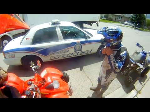 Cops vs Quads - Police vs Dirtbikes - compilation Megamix 2016