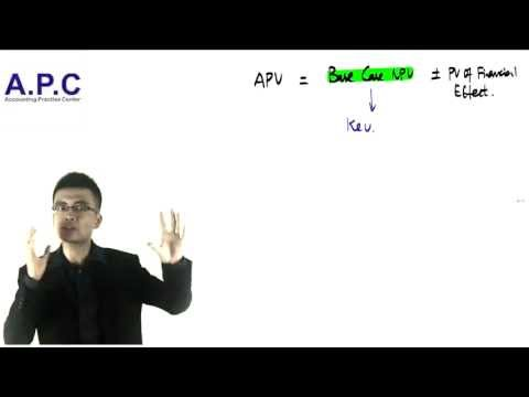 ACCA p4 advanced financial management APV(adjusted present v