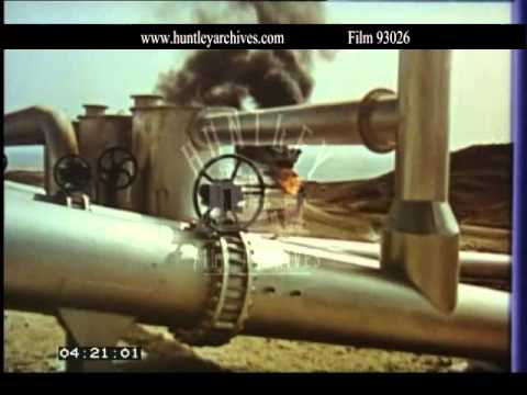 Saudian Arabian oil supply, 1970's.  Archive film 93026