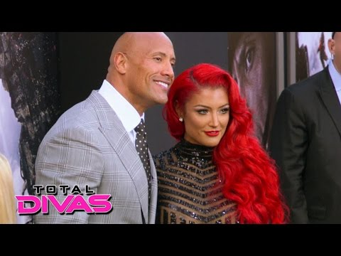 Eva Marie walks the red carpet with The Rock: Total Divas: September 8, 2015