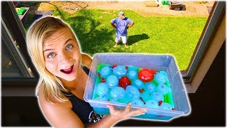 SLIME WATER BALLOON PRANK ON MY DAD! // SoCassie