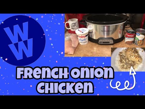 French Onion Chicken | Crockpot WW Meal