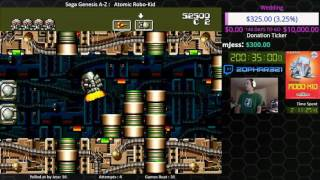Sega Genesis A Z : Atomic Robo Kid (journey To Beat Every Sega Genesis Game) Day 2