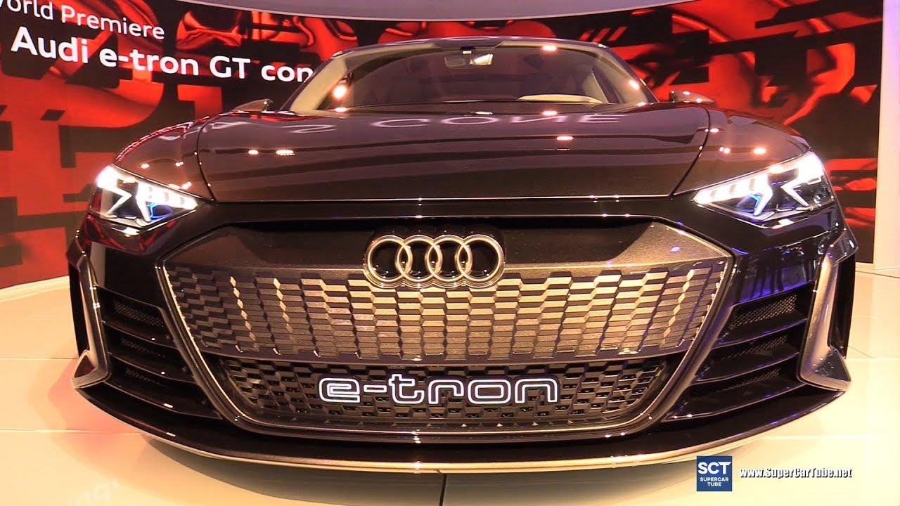 audi e tron gt concept exterior walkaround world debut at 2018 rh youtube com