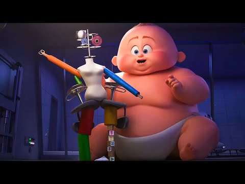 INCREDIBLES 2 - Baby Jack Jack All Superpowers Short Movie (2018) Clip