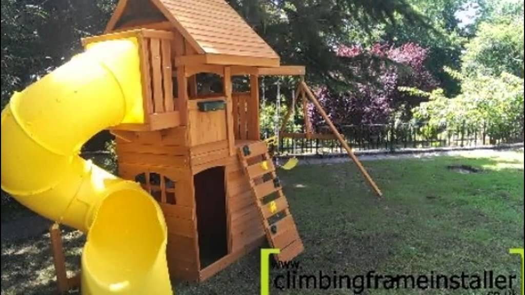 Selwood Products Grandview Cedar Climbing Frame Installation Youtube