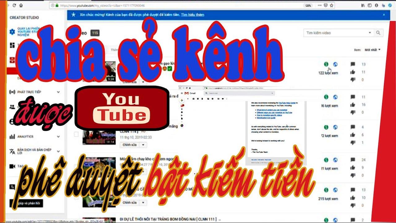DGTV 482 ] – Chia sẻ kênh được YOUTUBE phê duyệt bật kiếm tiền .