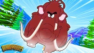 Five Woolly Mammoths - The Woolly Mammoth Song - Songs for Kids - Prehistorica by Howdytoons