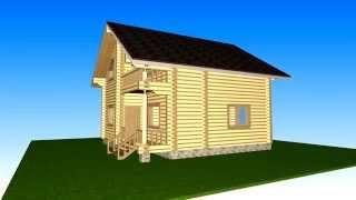 Проект дома из оцилиндрованного бревна Д-7(, 2014-05-12T16:01:07.000Z)