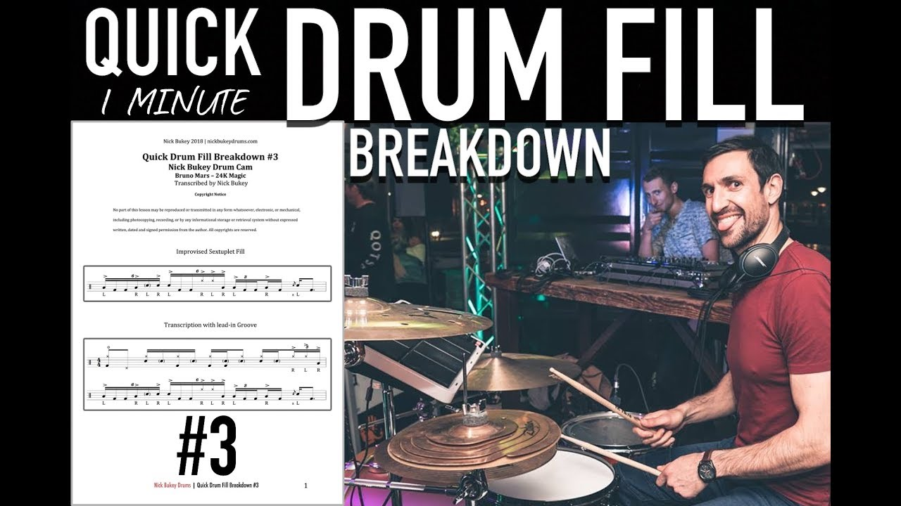 Download Quick Drum Fill Breakdown #3 - Advanced Drum Lesson by Nick Bukey