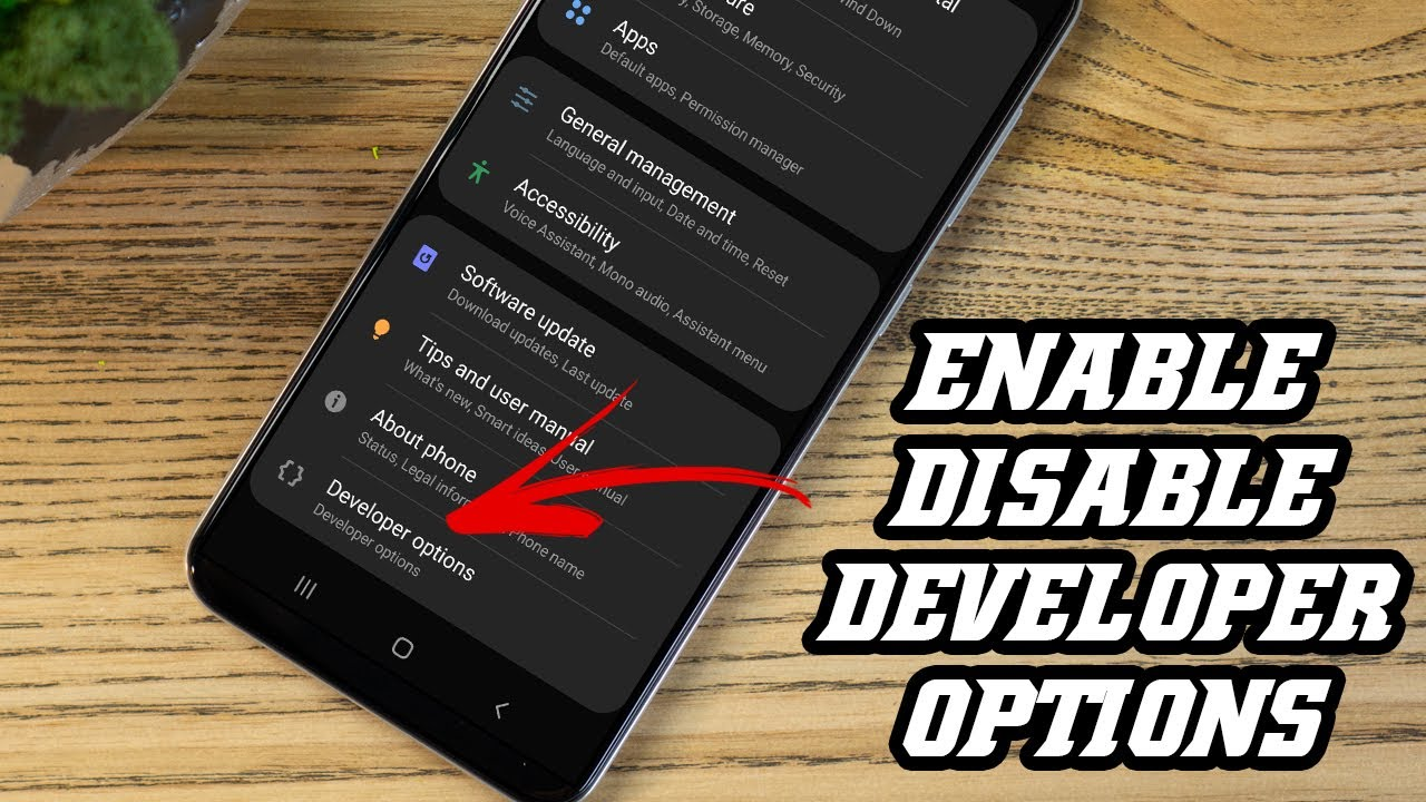 Enable / Disable Developer Option on Android 2020 (Samsung Galaxy A50)