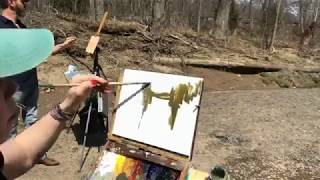 Plein Air Painting A River & Old Bridge with Jessica Henry