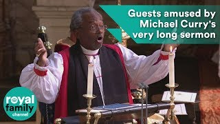 Royal wedding: Guests amused by Michael Curry's very long sermon