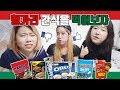 Korean girls try snacks from Hungary(Europe)! | 헝가리에서 사온 간식을 먹어보자(feat.미친구덜)
