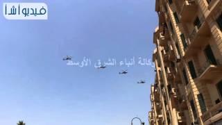 بالفيديو :عروض طيران بسماء التحرير في ذكري تحرير سيناء