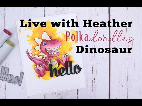 Live with Heather - PolkaDoodles - Dinosaur 2