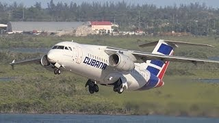Cubana   Departure from the Tower   Antonov AN-158   Nassau Bahamas