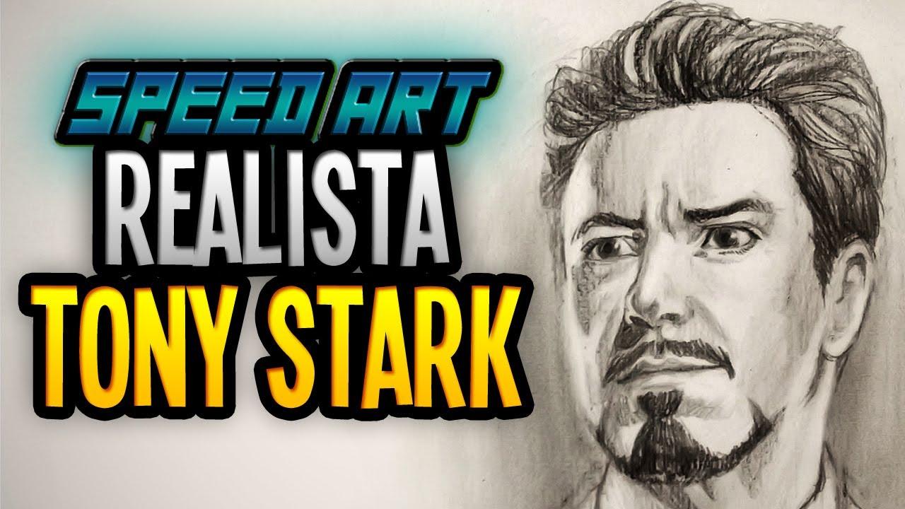 Speed Art Desenho Realista Tony Stark Youtube
