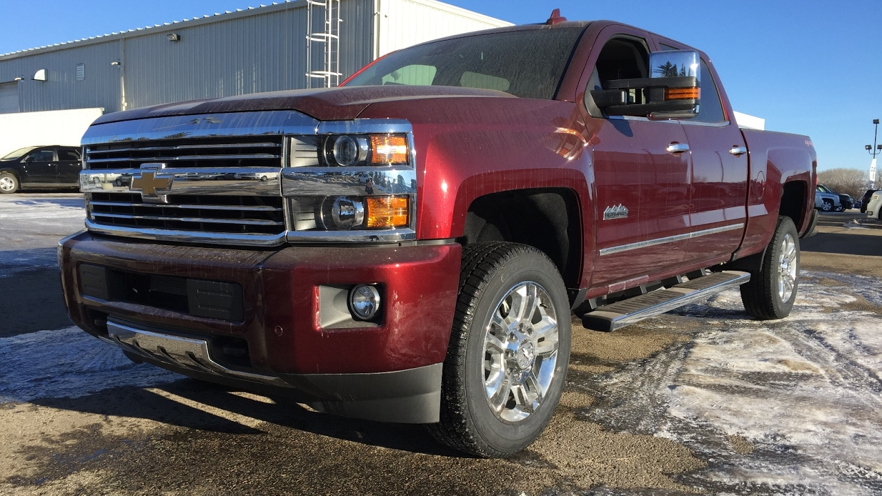 2017 Chevrolet Silverado 2500Hd Regular Cab >> New 2017 Chevrolet Silverado 2500HD High Country / Red, Crew Cab, Regular Box, 4x4 / 17n047 ...