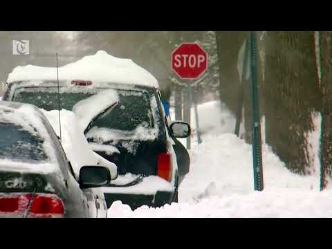Powerful storms slam U S  with blizzard conditions
