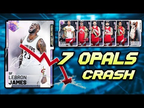2K ADDED 7 NEW GALAXY OPALS IN NBA 2K19 MyTEAM!! BIGGEST MARKET CRASH OF  THE YEAR