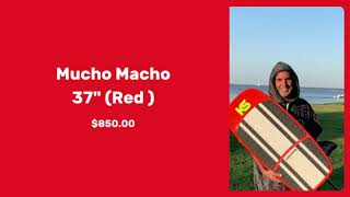 "Kanaha Shapes - Mucho Macho 37"" (Red )"