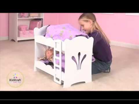 Lil Doll Bunk Bed By Kidkraft Youtube
