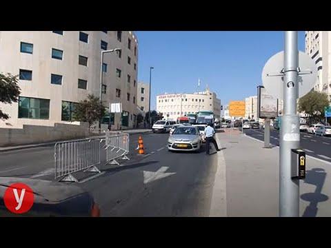 מחסומי משטרה אוכפים את הסגר בירושלים