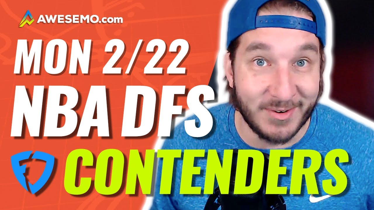 FANDUEL NBA DFS PICKS TODAY | Top 10 ConTENders Mon 2/22 | NBA DFS Simulations
