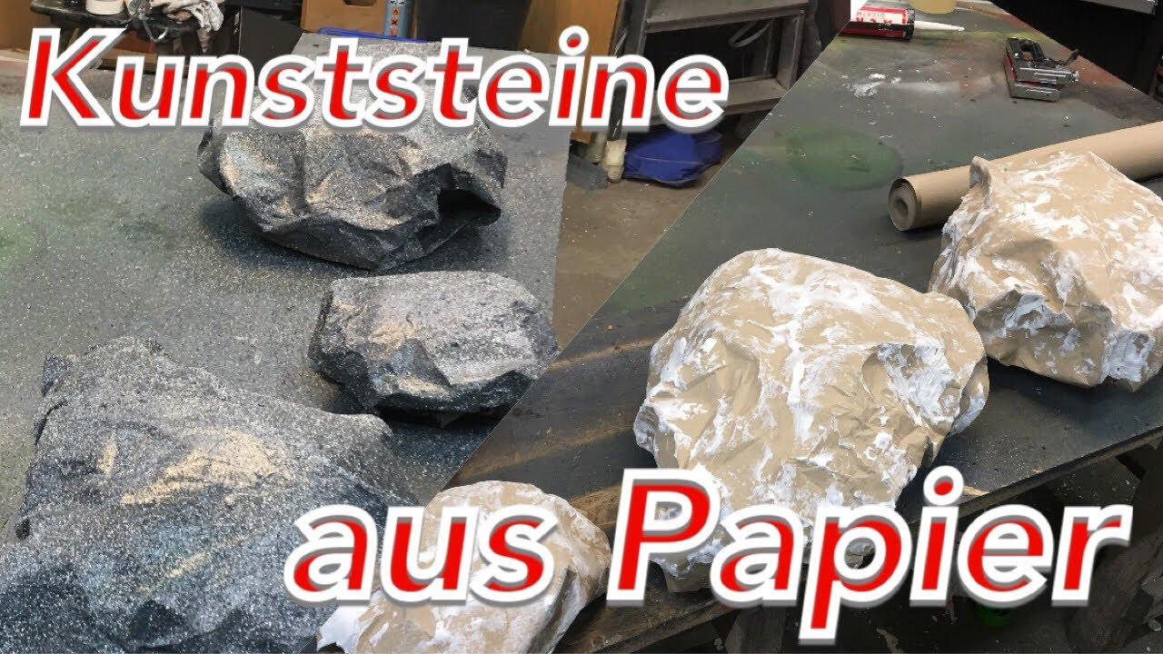 Steine Felsen selber machen herstellen Steinoptik lackieren Bühne ...