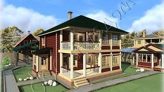 видео Двухэтажные дома с балконом и открытой террасой