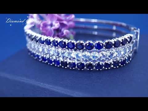 Изумительный браслет с сапфирами и бриллиантами от Diamond Gallery