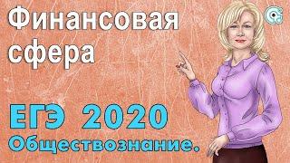 ЕГЭ по Обществознанию 2019. Финансовая сфера