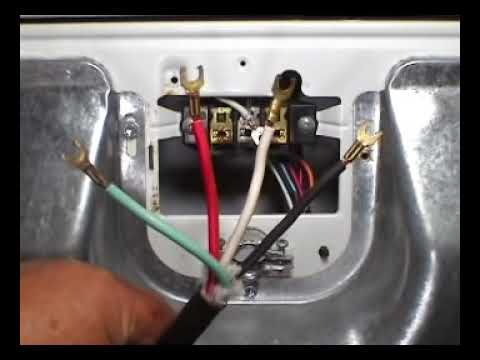 4 prongs power cord installing whirlpool 29 inch electric dryer rh youtube com 3 Prong Dryer Receptacle Wiring 3 Prong Dryer Wiring Diagram