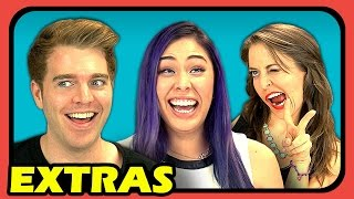 youtubers react to selfies extras 50